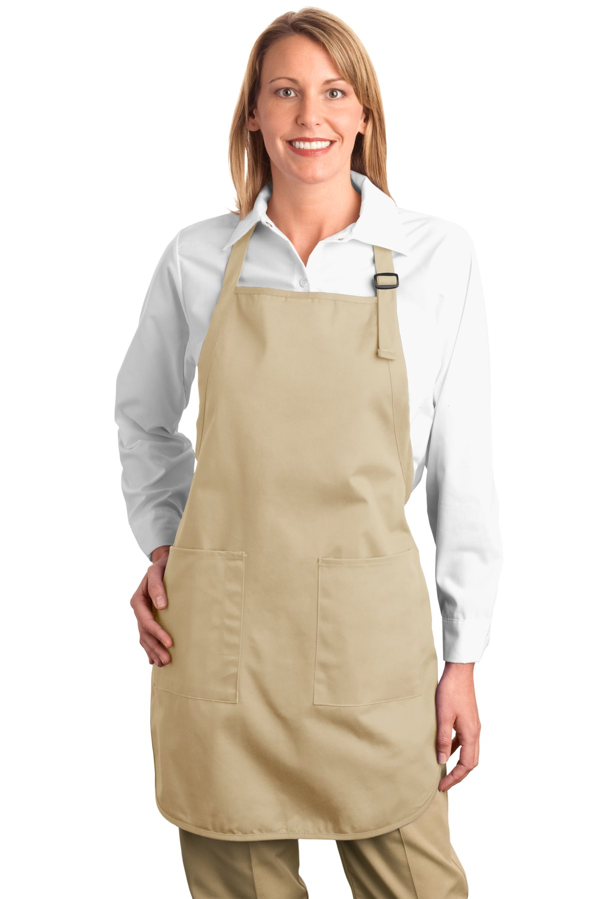 Port Authority ®  Full-Length Apron with Pockets.  A500 - Stone