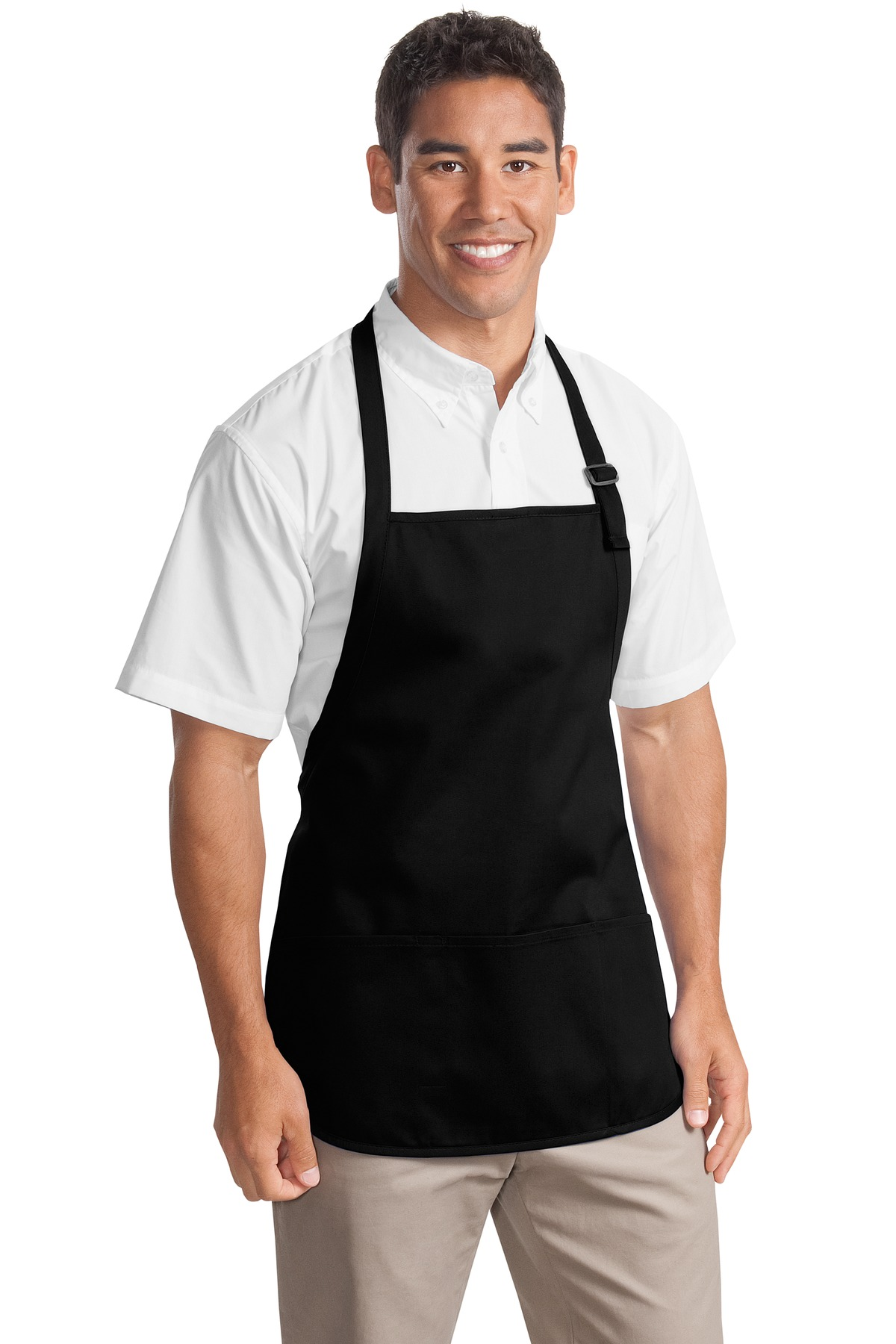 Port Authority ®  Medium-Length Apron with Pouch Pockets.  A510 - Black