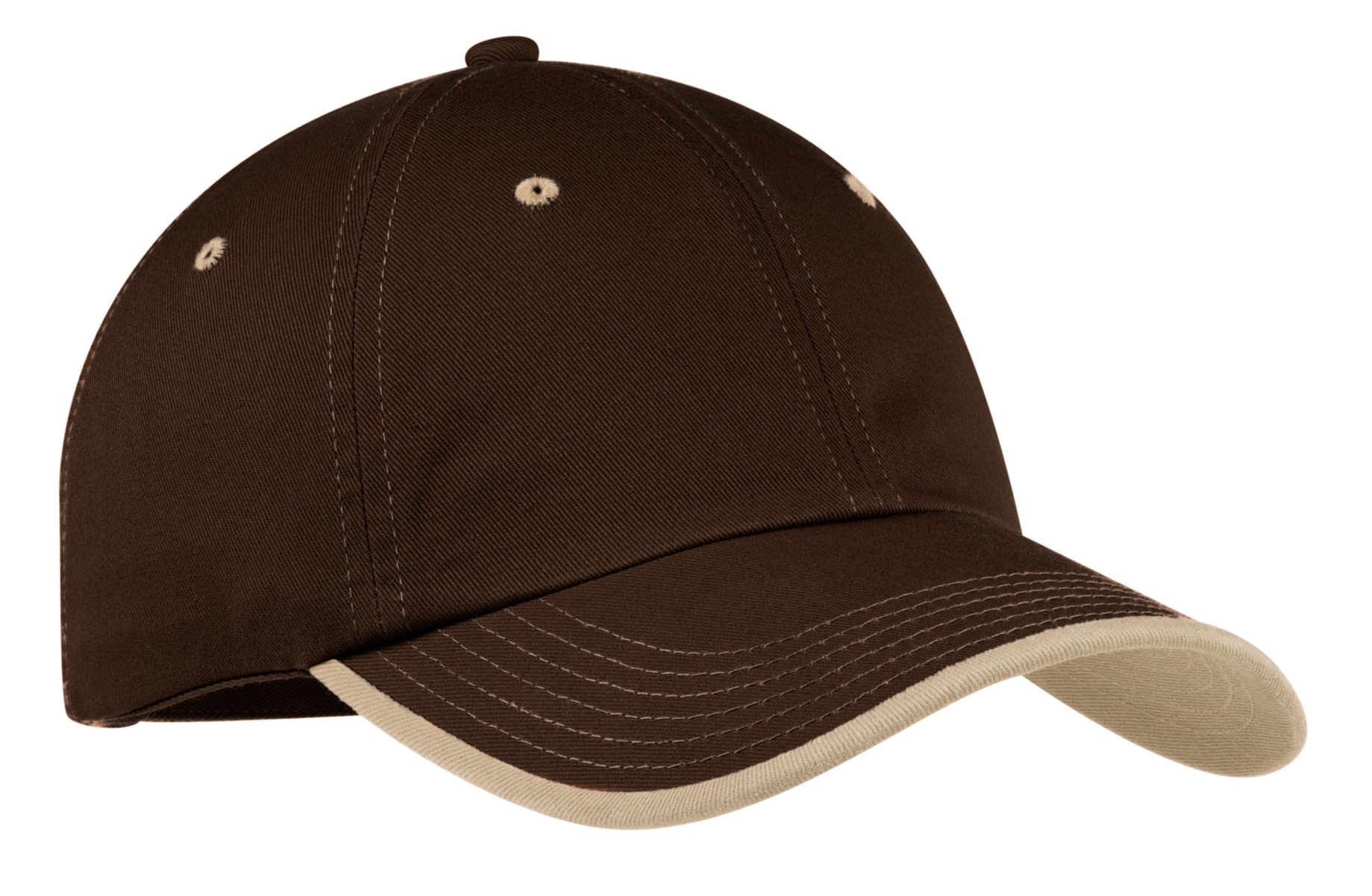 Port Authority ®  Vintage Washed Contrast Stitch Cap.  C835 - Brown/ Stone