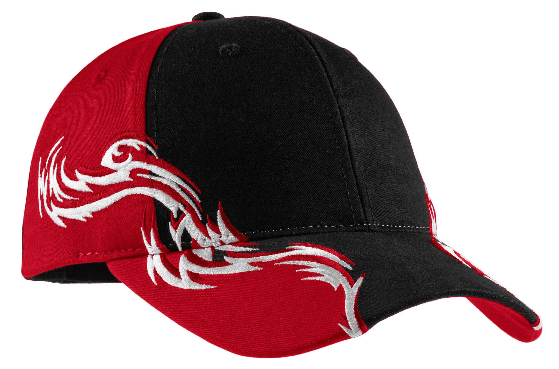 Port Authority Colorblock Racing Cap with Flames. C859