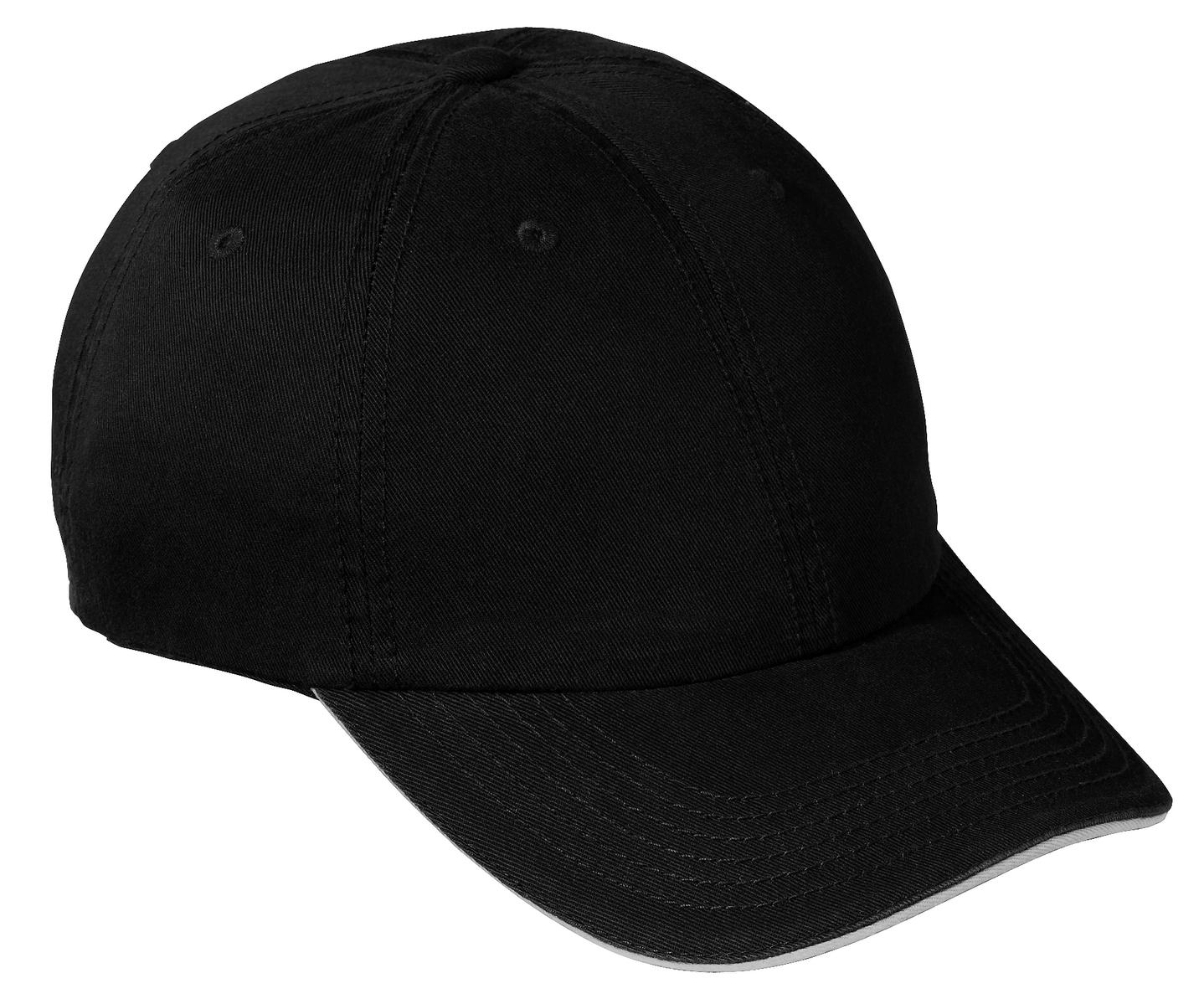 Port and Company - Washed Twill Sandwich Bill Cap. CP79