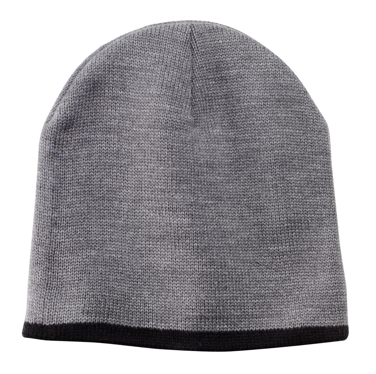 Port & Company ®  Beanie Cap.  CP91 - Athletic  Oxford/ Black