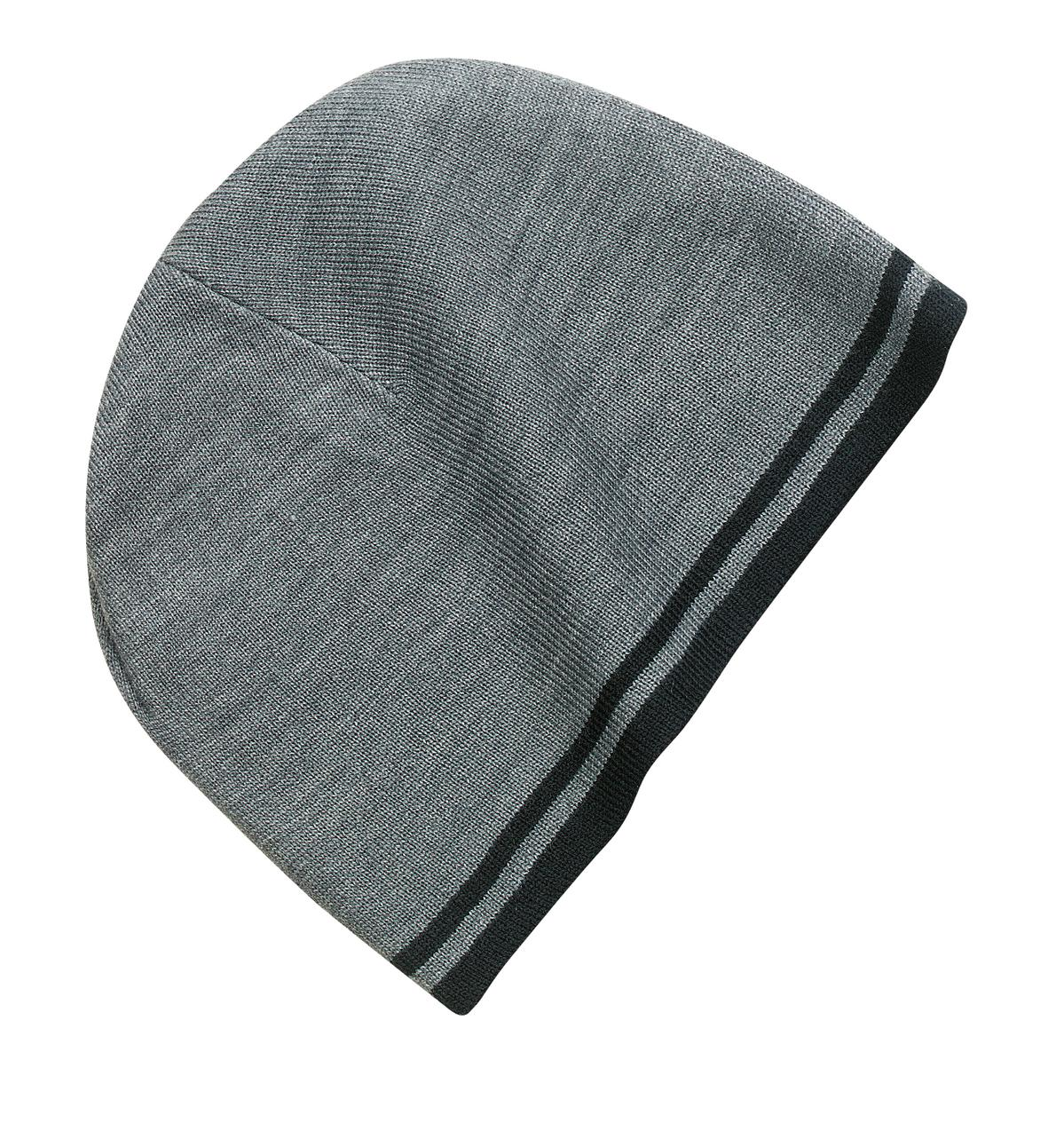 Port and Company - Fine Knit Skull Cap with Stripes. CP93