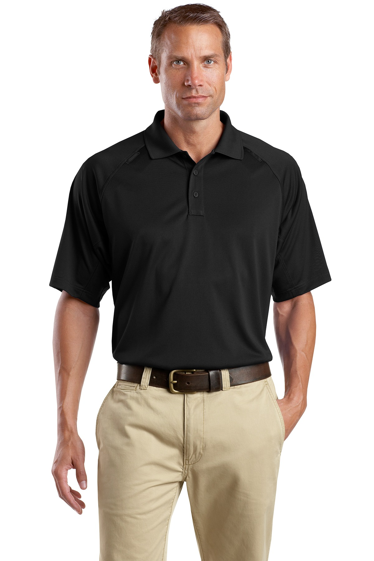 CornerStone ®  - Select Snag-Proof Tactical Polo. CS410 - Black