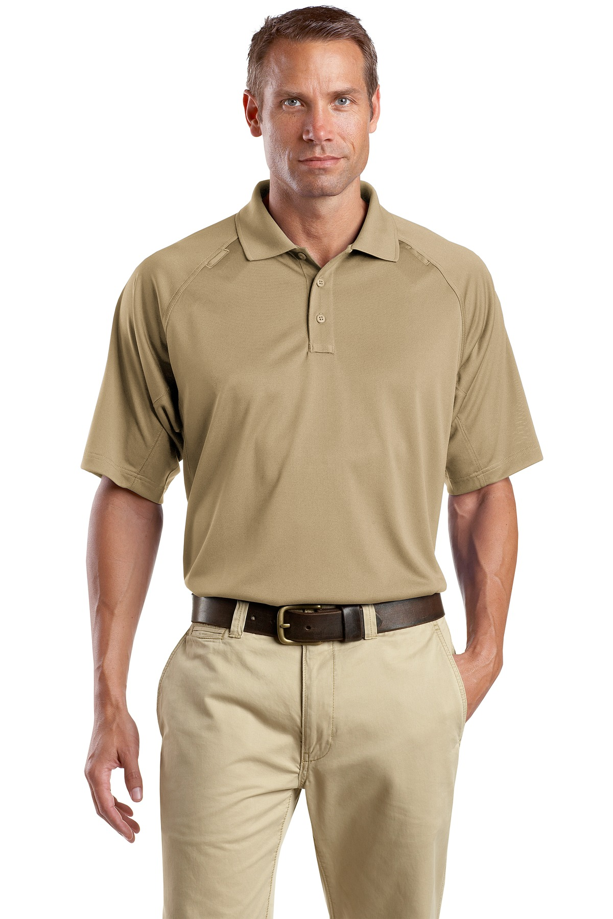 CornerStone ®  - Select Snag-Proof Tactical Polo. CS410 - Tan
