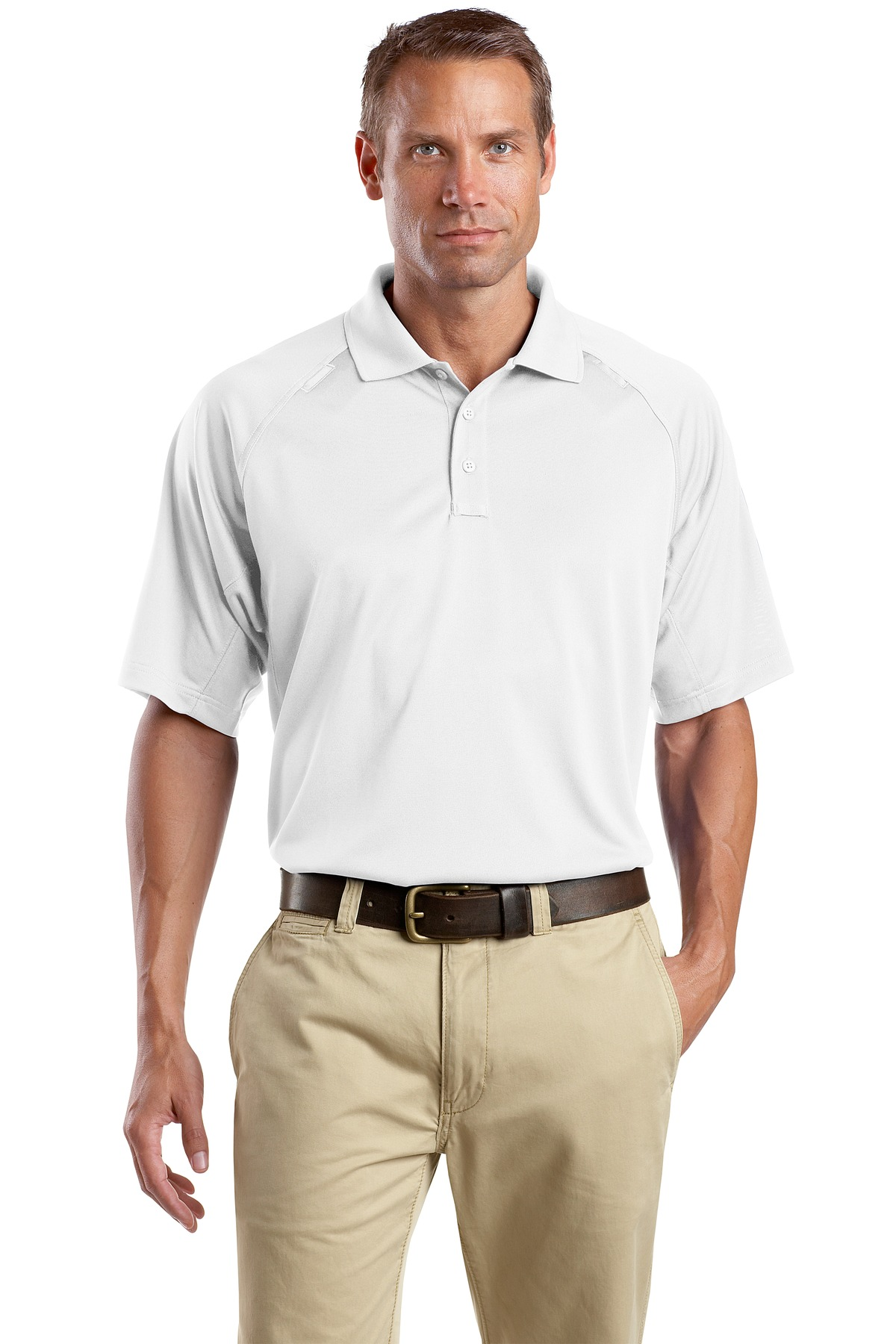CornerStone ®  - Select Snag-Proof Tactical Polo. CS410 - White