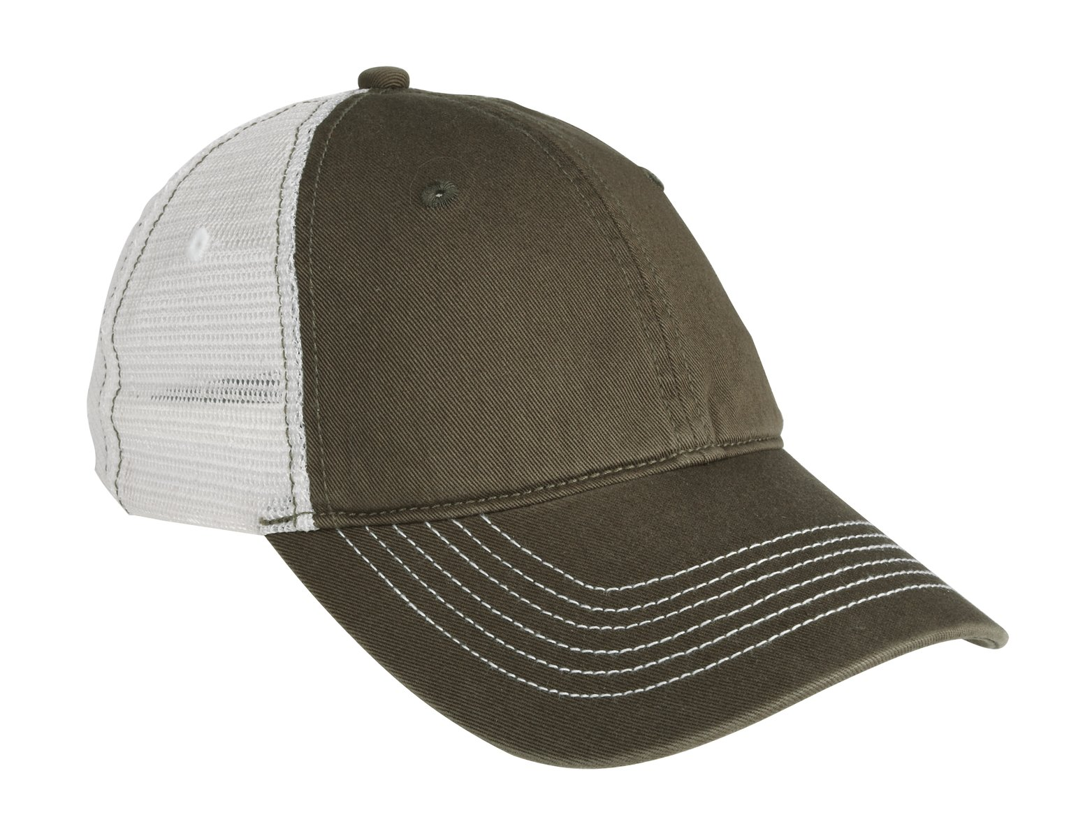 District ®  Mesh Back Cap. DT607 - Army/ White