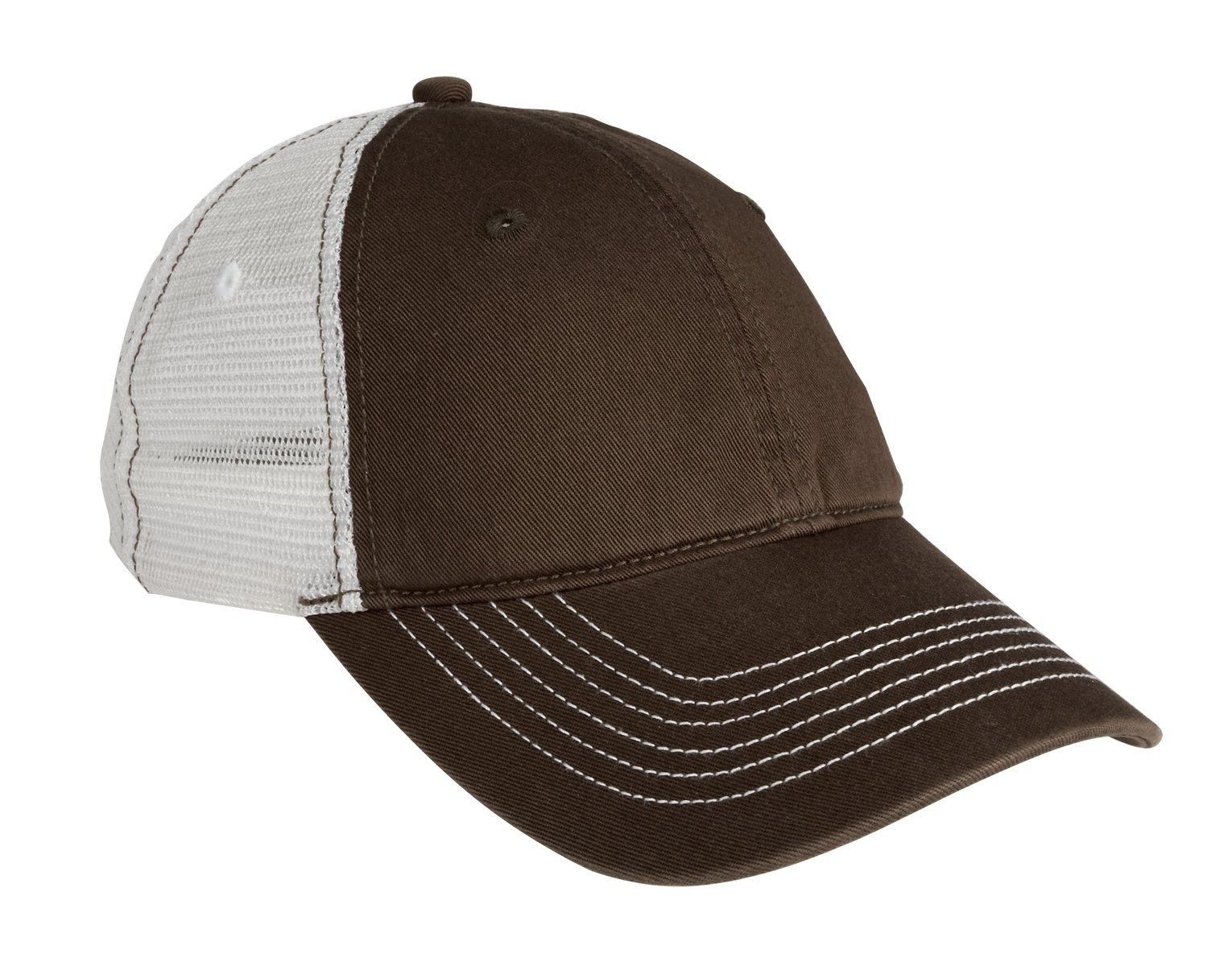 District ®  Mesh Back Cap. DT607 - Chocolate Brown/ White