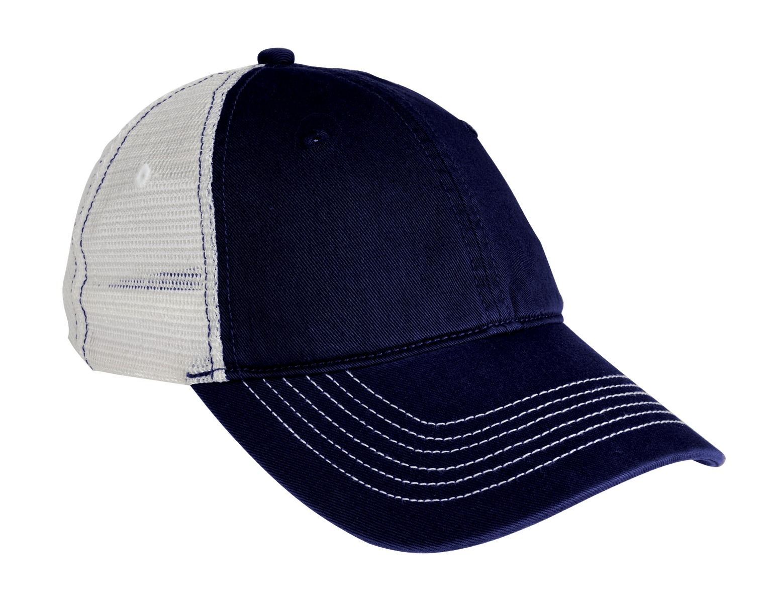 District ®  Mesh Back Cap. DT607 - New Navy/ White