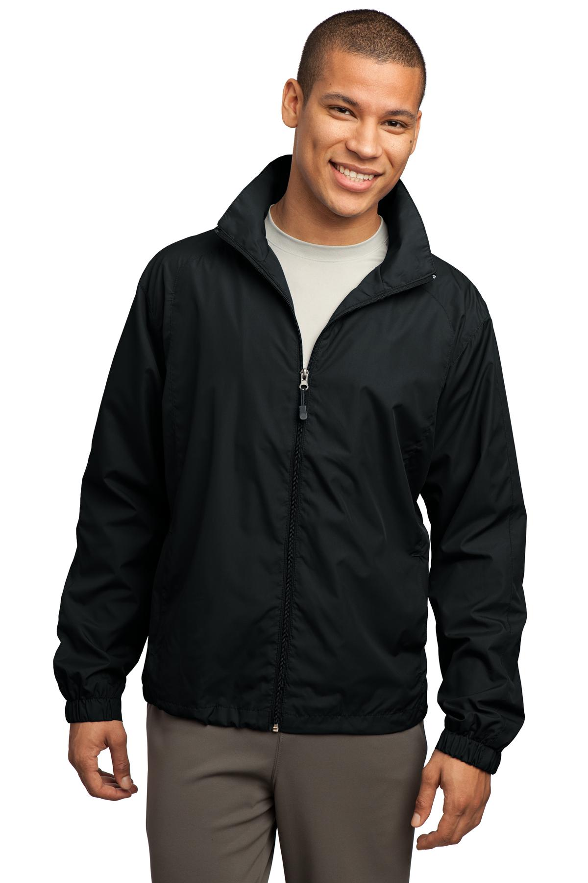 Sport-Tek ®  Full-Zip Wind Jacket. JST70 - Black