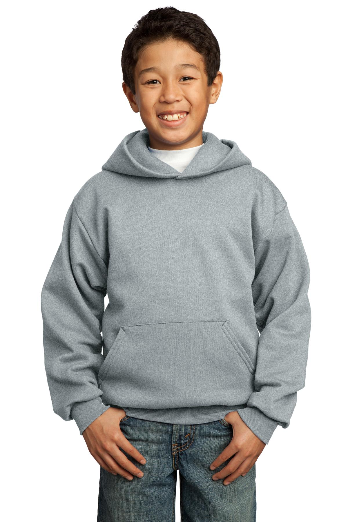 Port & Company ®  - Youth Core Fleece Pullover Hooded Sweatshirt.  PC90YH - Athletic Heather