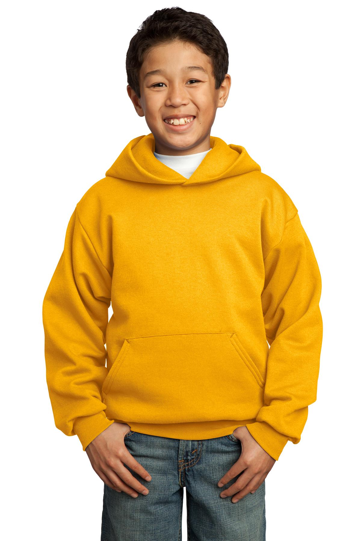 Port & Company ®  - Youth Core Fleece Pullover Hooded Sweatshirt.  PC90YH - Gold