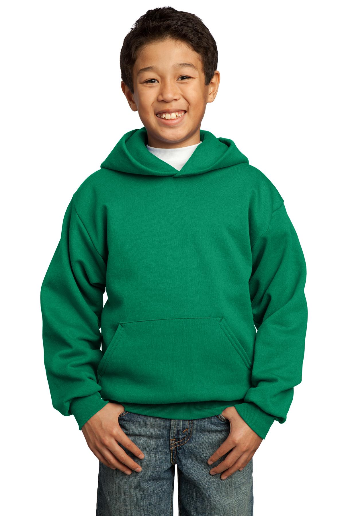 Port & Company ®  - Youth Core Fleece Pullover Hooded Sweatshirt.  PC90YH - Kelly Green