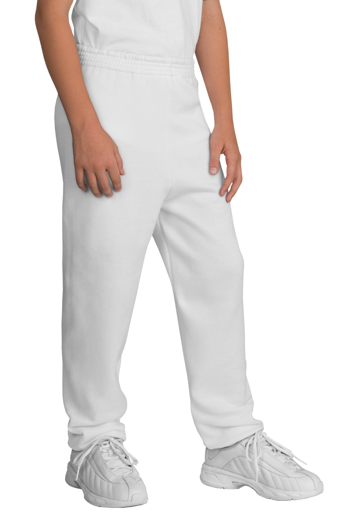 Port & Company ®  - Youth Core Fleece Sweatpant.  PC90YP - White