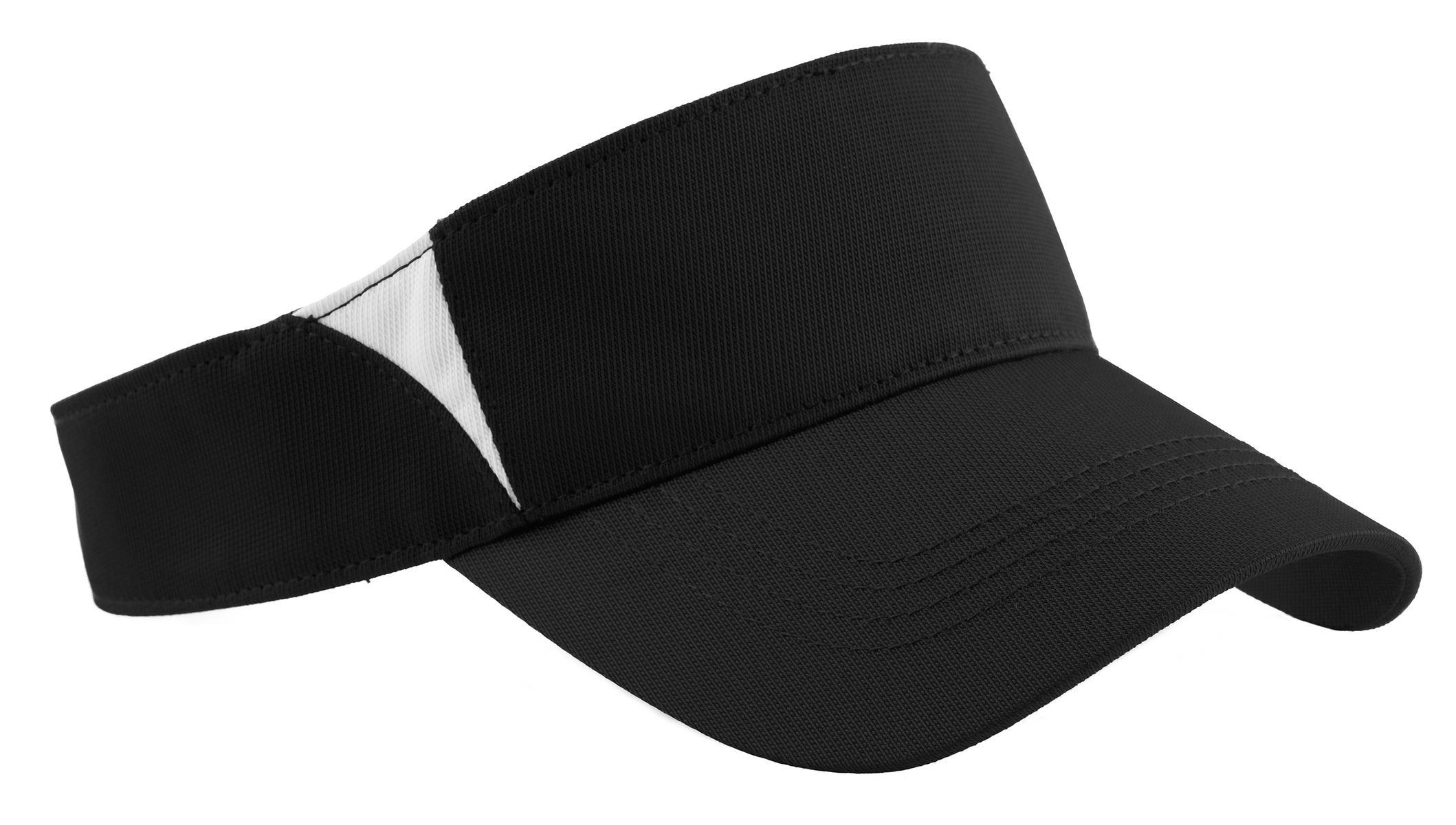 Sport-Tek ®  Dry Zone ®  Colorblock Visor.  STC13 - Black/White