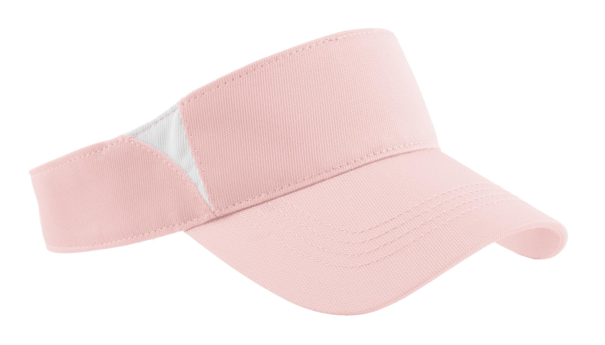 Sport-Tek ®  Dry Zone ®  Colorblock Visor.  STC13 - Light Pink/White