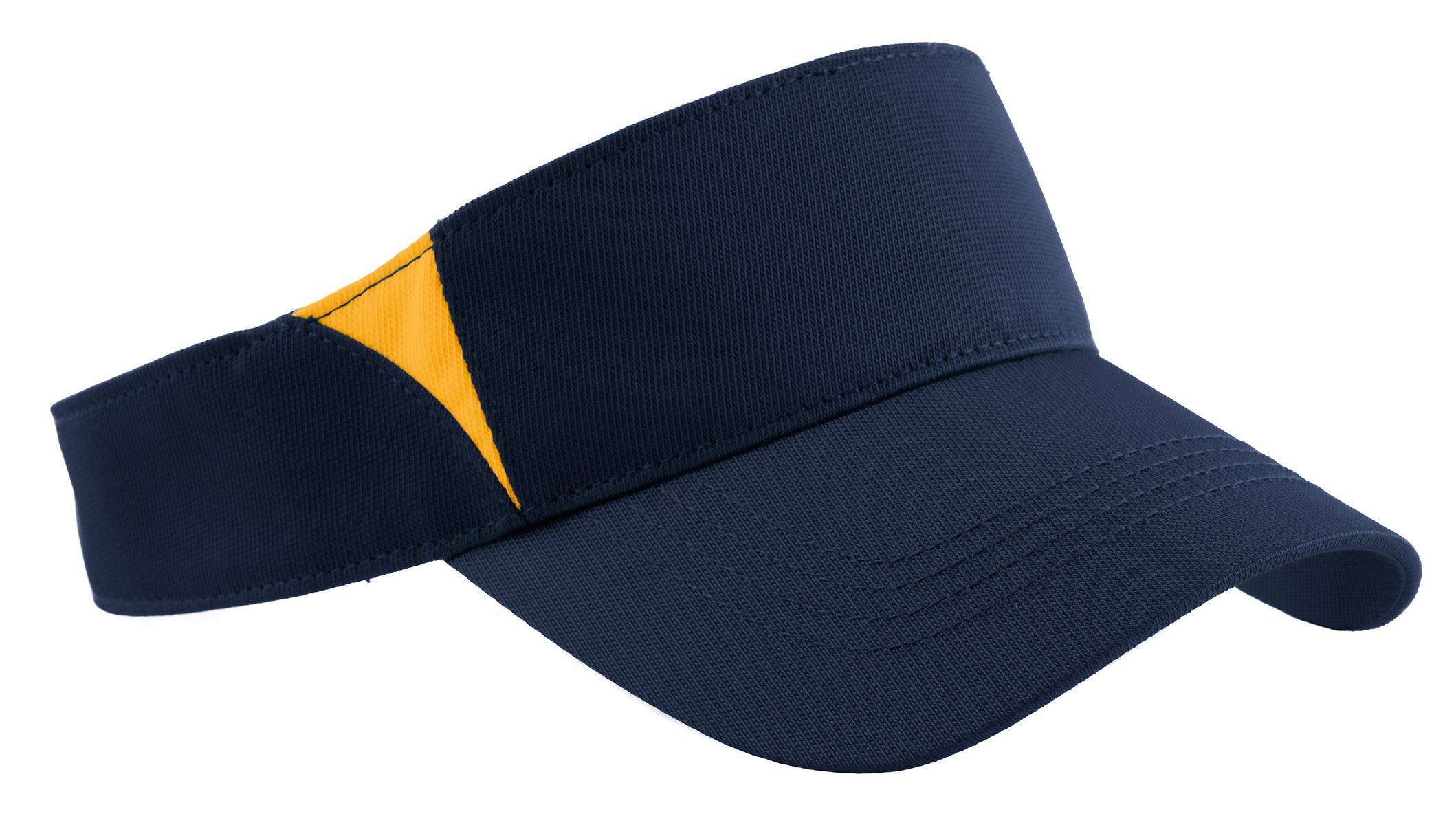 Sport-Tek ®  Dry Zone ®  Colorblock Visor.  STC13 - True Navy/Gold