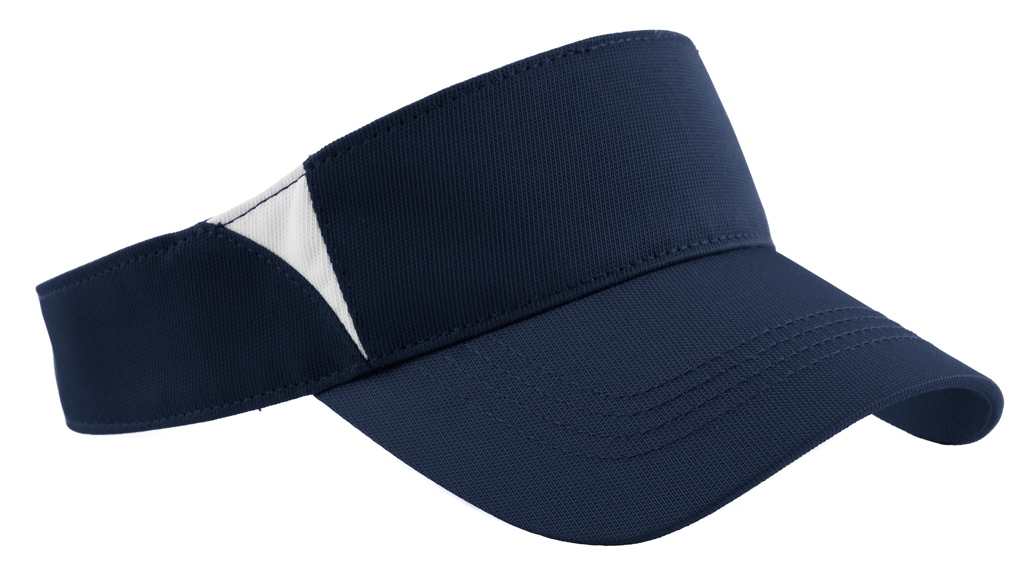 Sport-Tek ®  Dry Zone ®  Colorblock Visor.  STC13 - True Navy/White