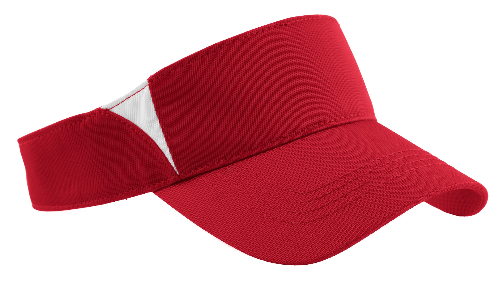 Sport-Tek ®  Dry Zone ®  Colorblock Visor.  STC13 - True Red/White