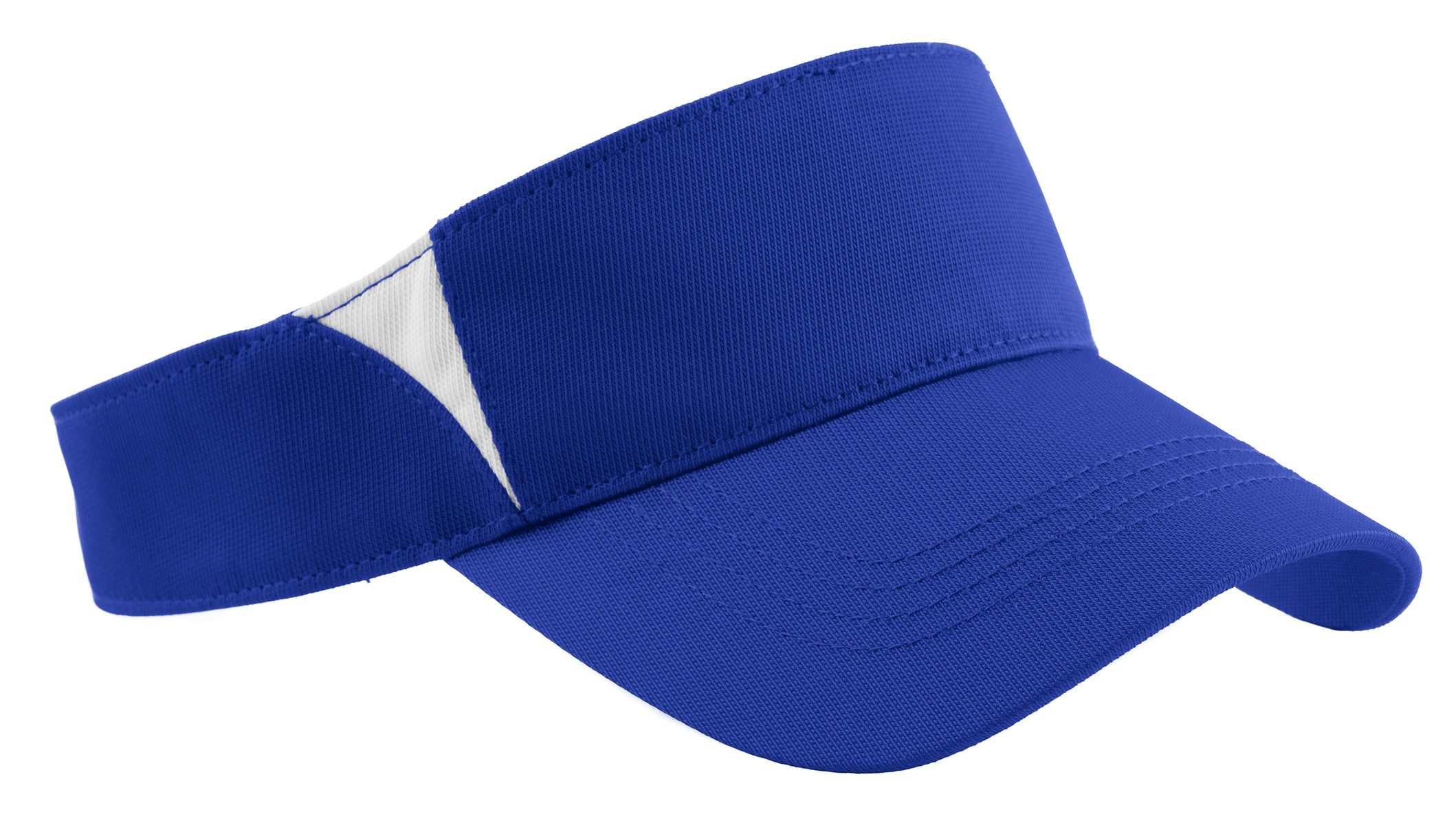 Sport-Tek ®  Dry Zone ®  Colorblock Visor.  STC13 - True Royal/White
