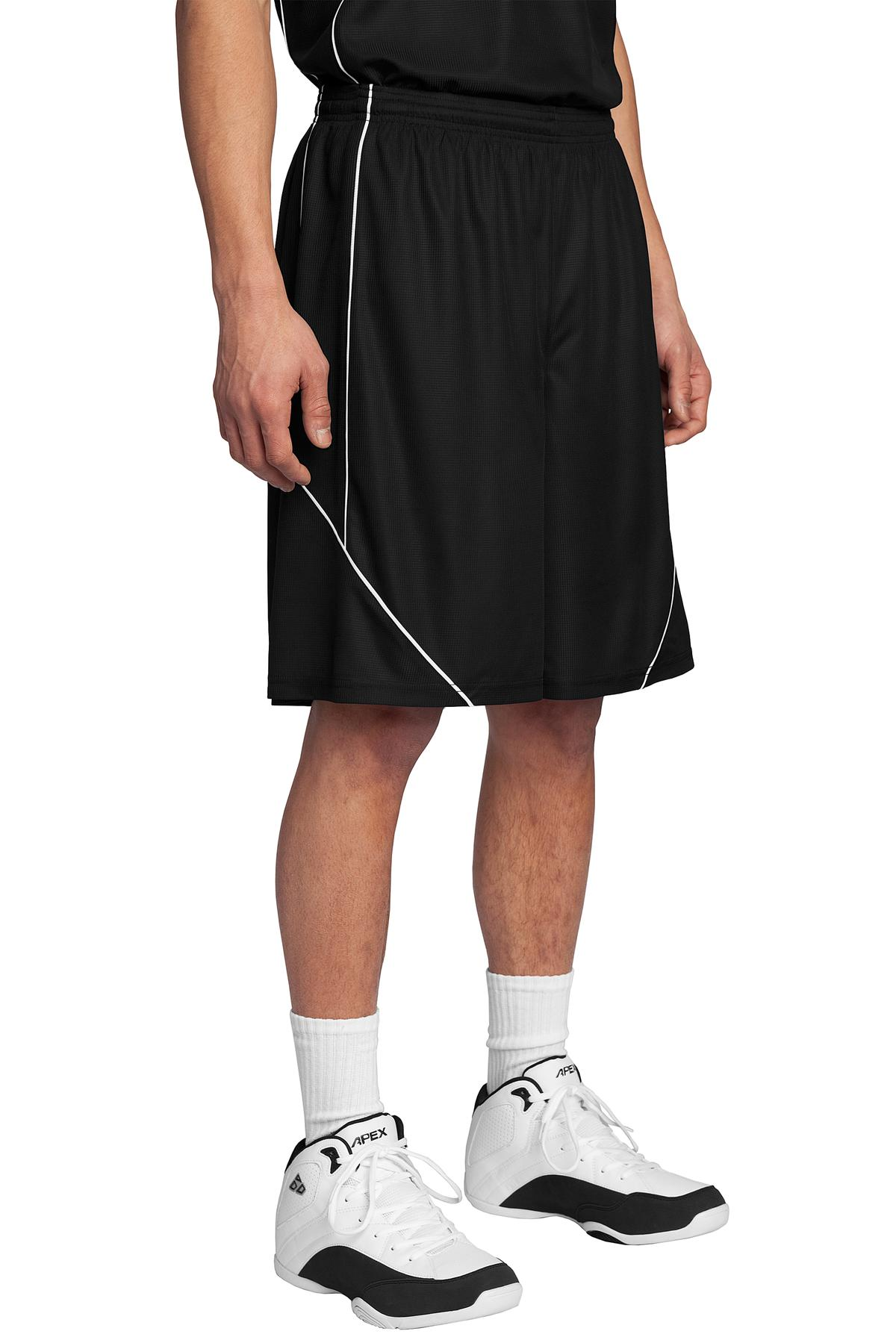 Sport-Tek ®  PosiCharge ®  Mesh Reversible Spliced Short. T565 - Black
