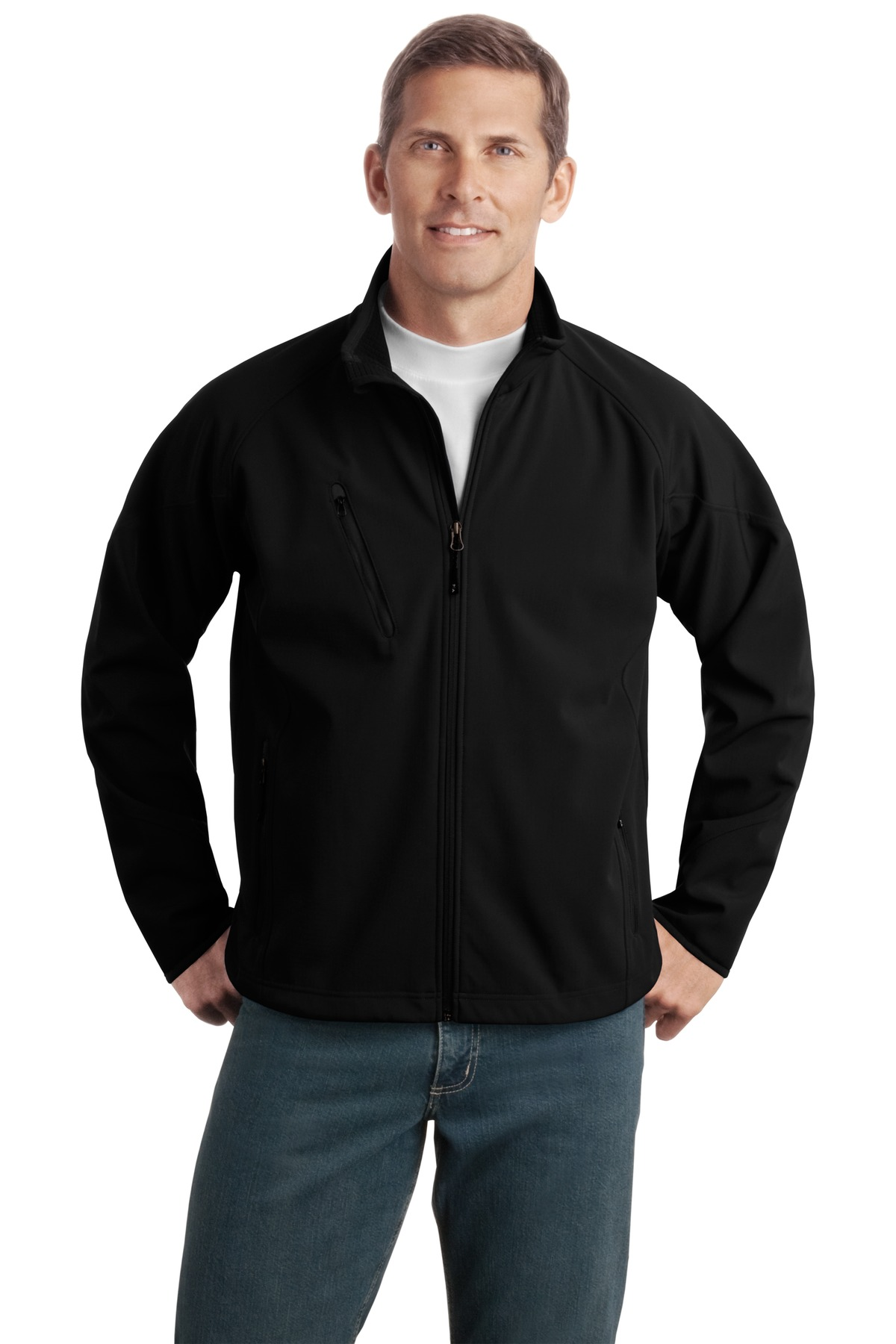 Port Authority Tall Textured Soft Shell Jacket. TLJ705