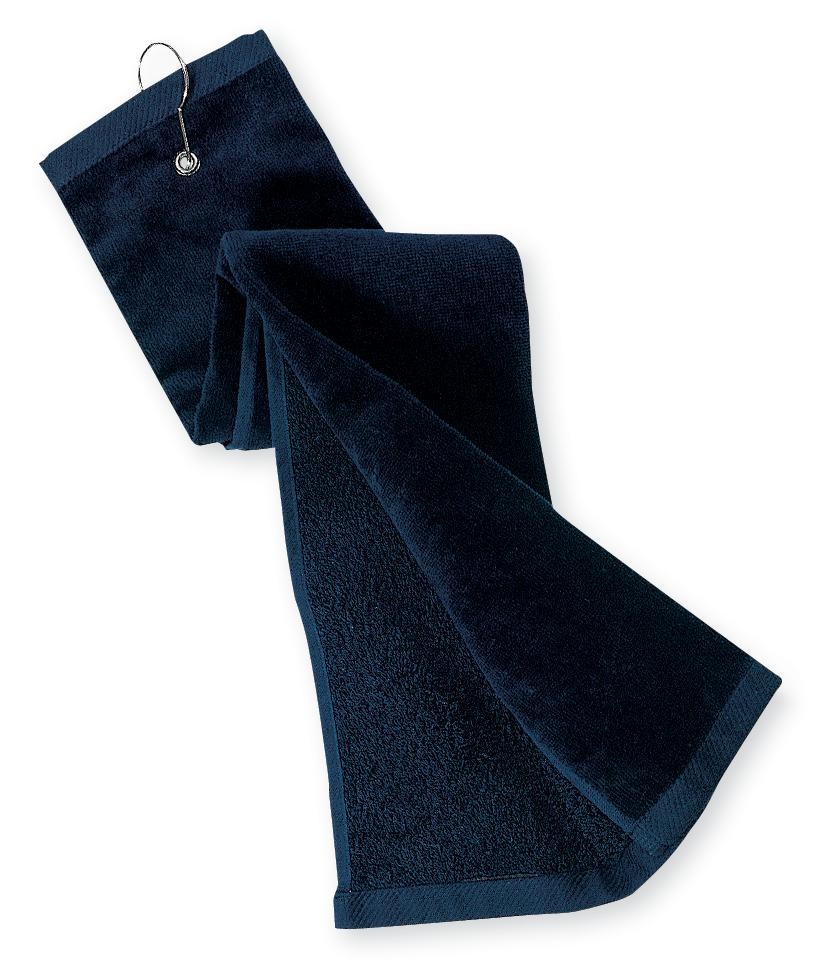 Port Authority ®  Grommeted Tri-Fold Golf Towel.  TW50 - Navy