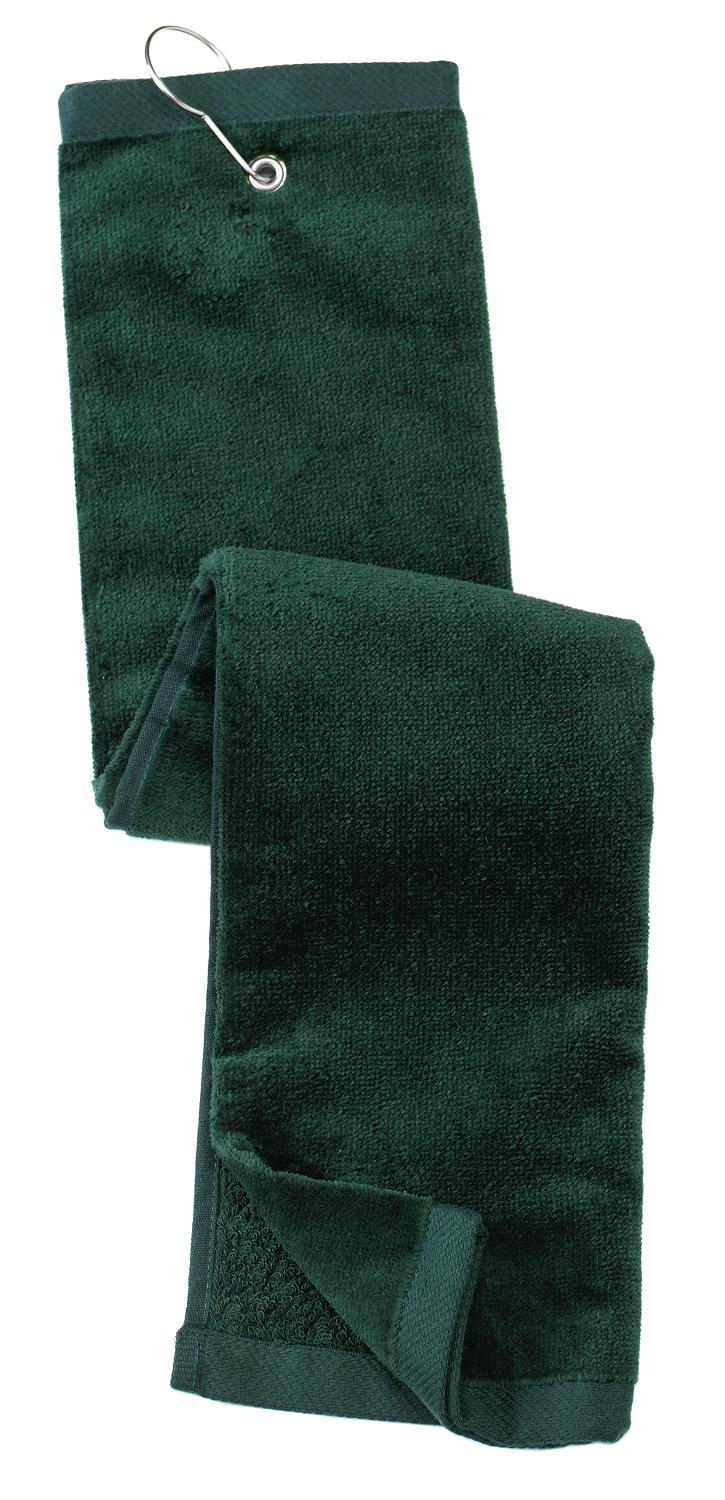 Port Authority ®  Grommeted Tri-Fold Golf Towel.  TW50 - Hunter