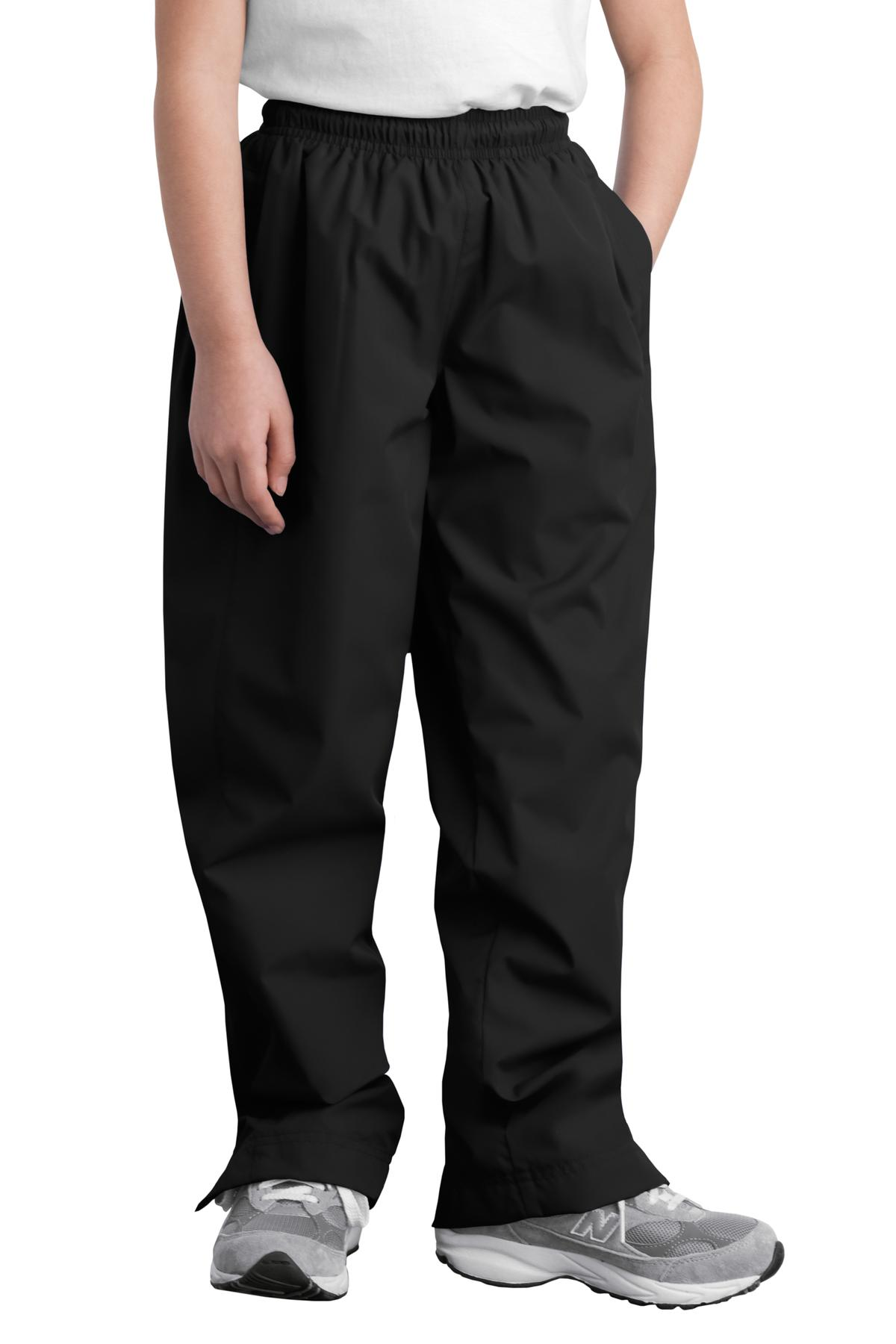 Sport-Tek ®  Youth Wind Pant. YPST74 - Black