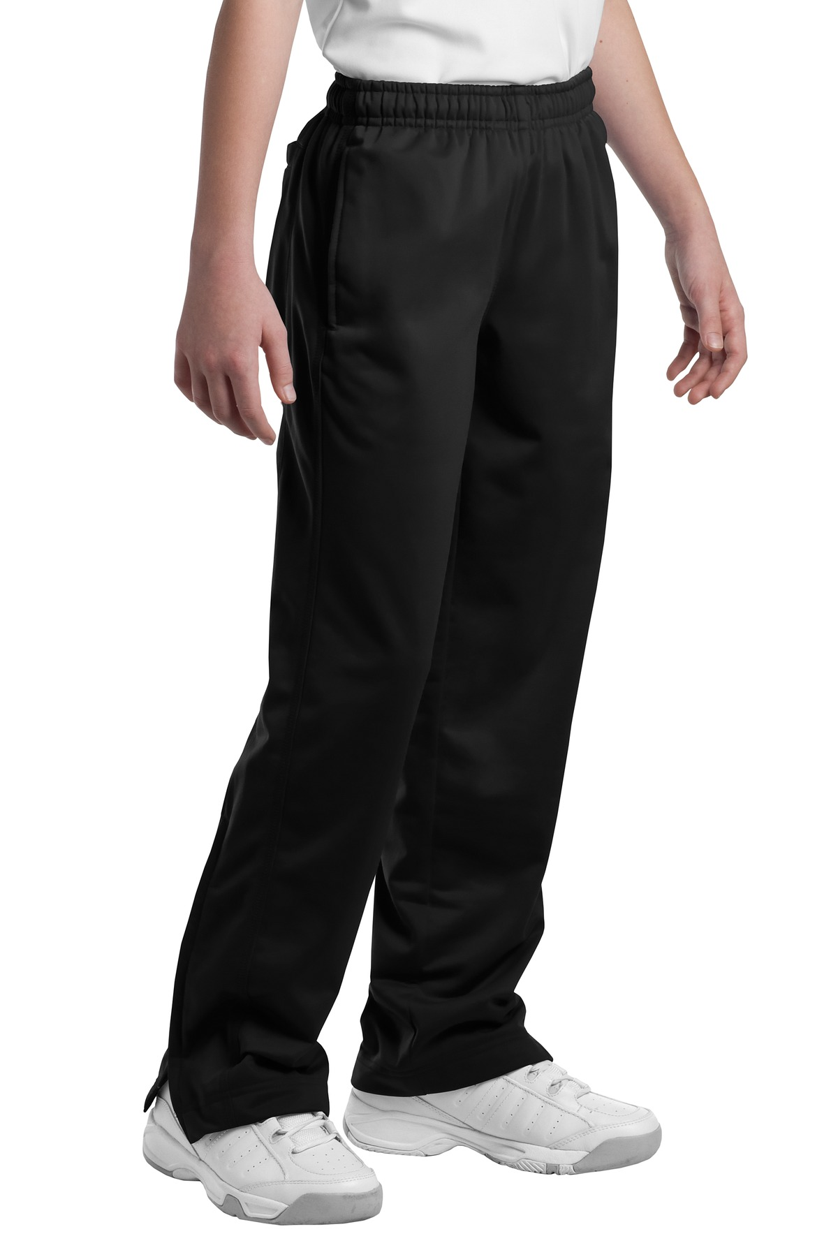 Sport-Tek ®  Youth Tricot Track Pant. YPST91 - Black